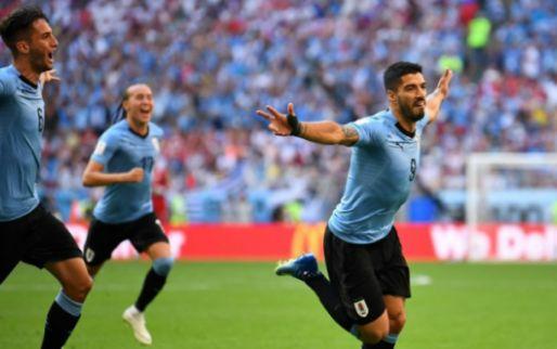 Afbeelding: Uruguay wint Groep A na zege op Rusland; Saudi-Arabië verslaat Egypte