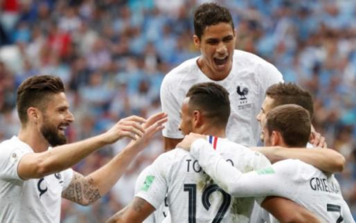 Afbeelding: Frankrijk schakelt Cavani-loos Uruguay uit en speelt tegen Brazilië of België
