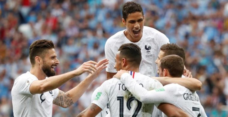 Frankrijk schakelt Cavani-loos Uruguay uit en speelt tegen Brazilië of België