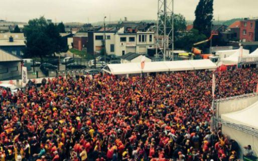 Afbeelding: Belgische club staan allemaal achter de Rode Duivels: 'Full house'