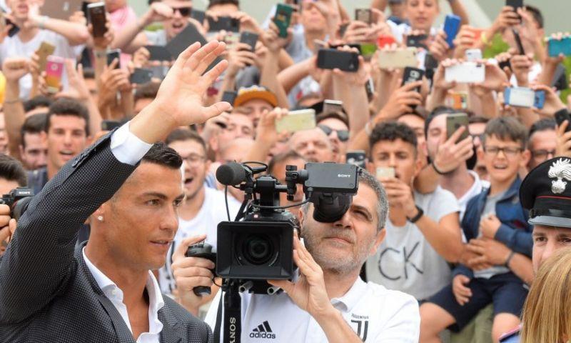 Afbeelding: Persconferentie Ronaldo: 'Als we gestopt zijn, zullen we bepalen wie de beste was'