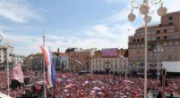 Afbeelding: WK-finalist Kroatië krijgt heldenontvangst: ruim 100.000 fans op de been