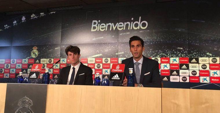 Arbeloa ejerce de embajador del Real Madrid presentando a Odriozola