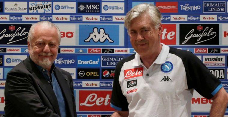 Napoli-preses over 'transfertargets': 'Waarom zou ik die oude mannen vastleggen?'
