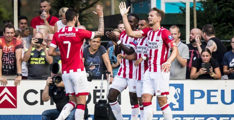 PSV slaat diep in de tweede helft genadeloos toe en boekt grote oefenzege