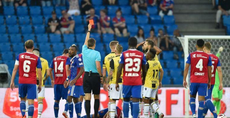 Vitesse machteloos na vroege rode kaart in Basel: Arnhemmers klaar in Europa