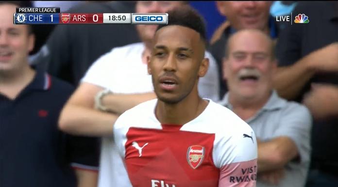Arsenal start dramatisch tegen Chelsea: snel 2-0 achter en misser Aubameyang