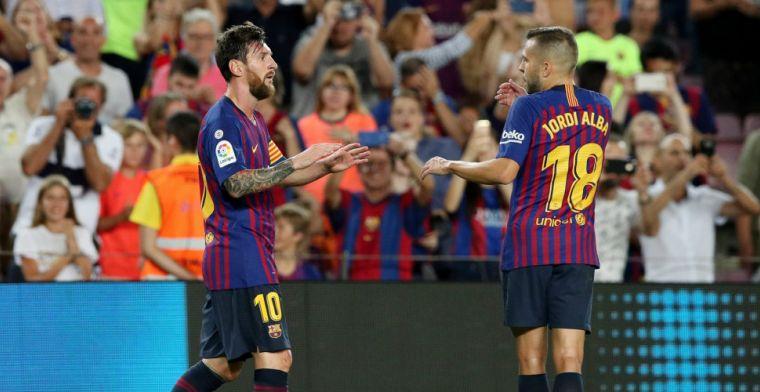 Messi neemt Barcelona bij de hand tegen Alavés met jubileumdoelpunt