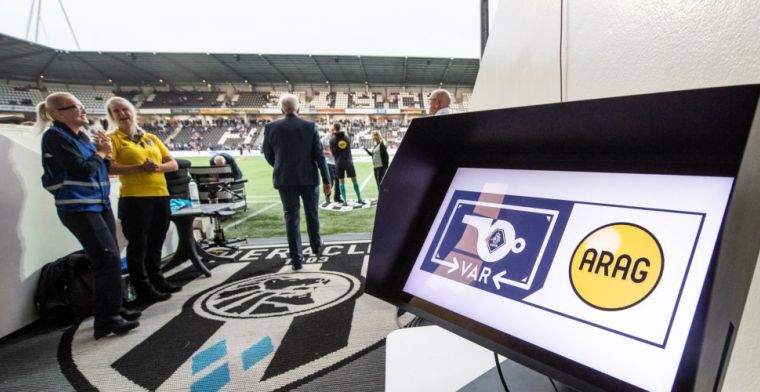 KNVB reageert op VAR-problemen: 'Duels gaan ook zonder VAR-verbinding gewoon door'