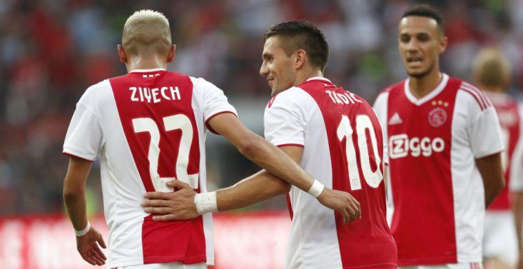 Tadic zich van geen kwaad bewust: 'Goede band met Ziyech, ook buiten het veld'