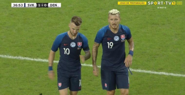 Twee oude Eredivisie-bekenden scoren voor Slowakije tegen Deens 'campingelftal'