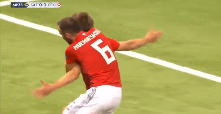 Georgiër maakt eerste Nations League-goal ooit: bal eindigt perfect in de kruising