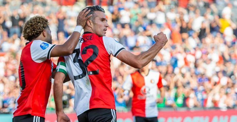 Van Persie blijft El Khayati en Ziyech voor en wint eerste Eredivisie-prijs