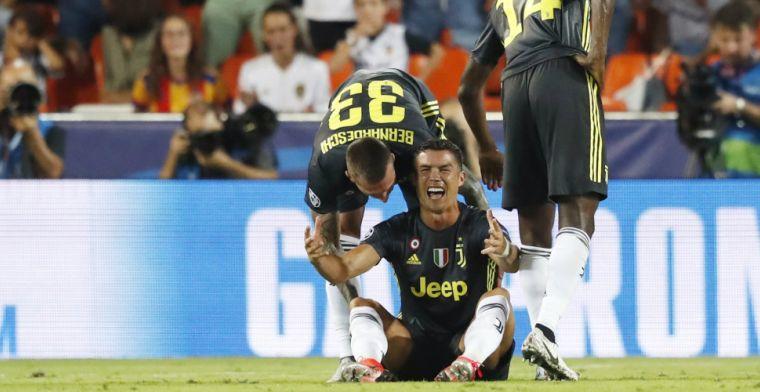 Twitter ontploft na rode kaart Ronaldo: 'Idiote misser. UEFA hobbelt erachteraan'