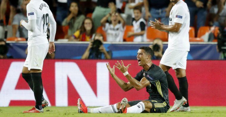 Roep om VAR na rood Ronaldo: 'Staan met tien man door zoiets onbenulligs'
