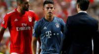 Imagen: James y la mano de la discordia ante el Benfica