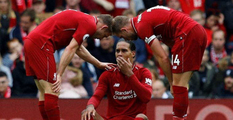 Liverpool en Van Dijk halen opgelucht adem: 'Verwacht niet dat het serieus is'