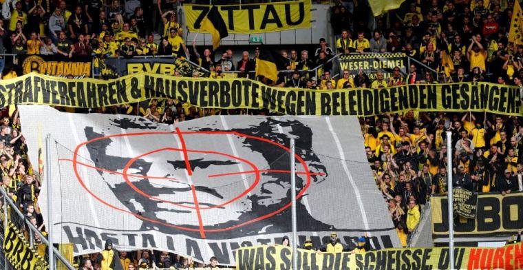 Dortmund-fans tonen afkeer met walgelijk spandoek van Hoffenheim-suikeroom