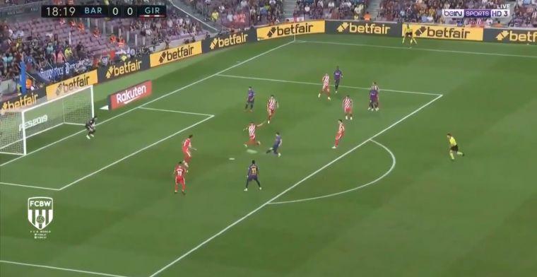 VÍDEO | Messi castiga la poca intensidad del Girona (1-0)