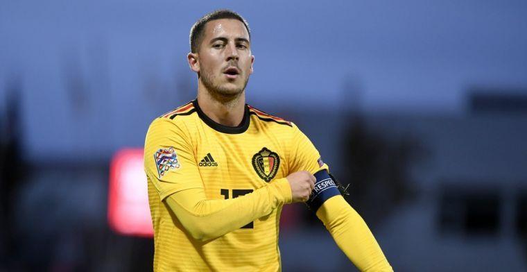 Hazard komt met opvallend Belgisch getint kostuum naar FIFA-ceremonie