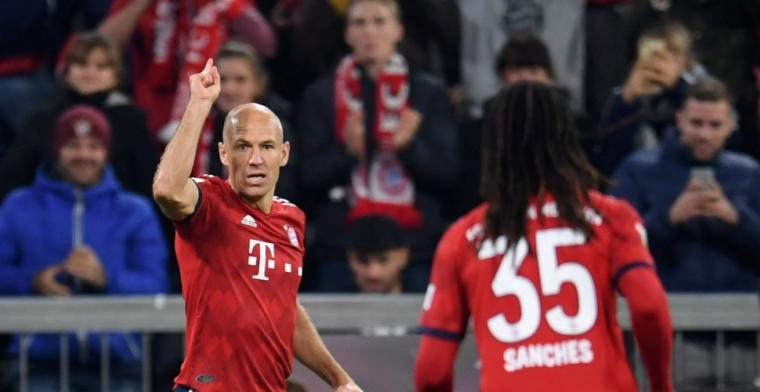 Robben kan eerste puntenverlies van Bayern München niet voorkomen