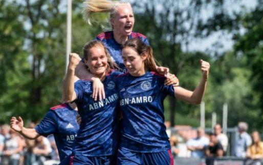 Afbeelding: Ajax Vrouwen komen matige eerste helft te boven en leveren unieke prestatie