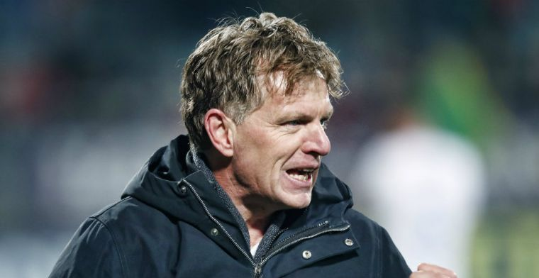 Groenendijk blij met spits: 'We beoordelen hem niet op de wedstrijd tegen PSV'