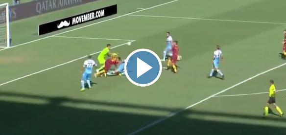Roma op voorsprong in Derby della Capitale: gestuntel Lazio; fraaie goal met hak