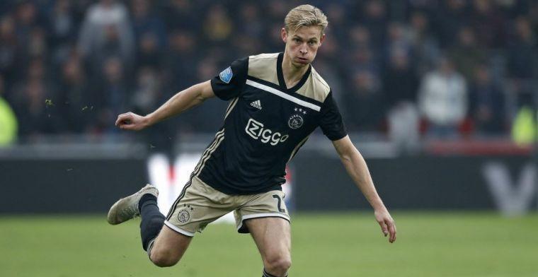 'Nieuwe domper voor Ajax: geblesseerde De Jong ontbreekt in Sittard'
