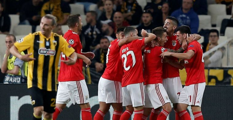 Groep E: Benfica boekt moeizame zege in Athene, Ajax blijft koploper