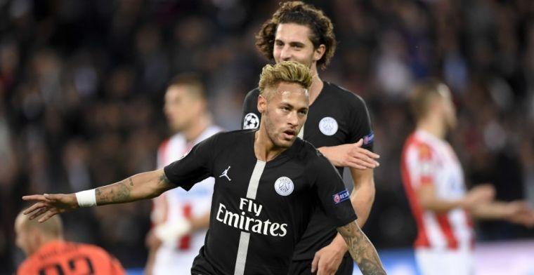 PSG leeft zich uit in Servische schiettent: Neymar maakt hattrick
