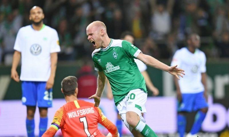 Afbeelding: Werder Bremen nestelt zich in Bundesliga-top door goal Klaassen tegen Weghorst