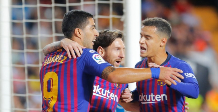 Barcelona bijt zich stuk en raakt koppositie kwijt bij Valencia