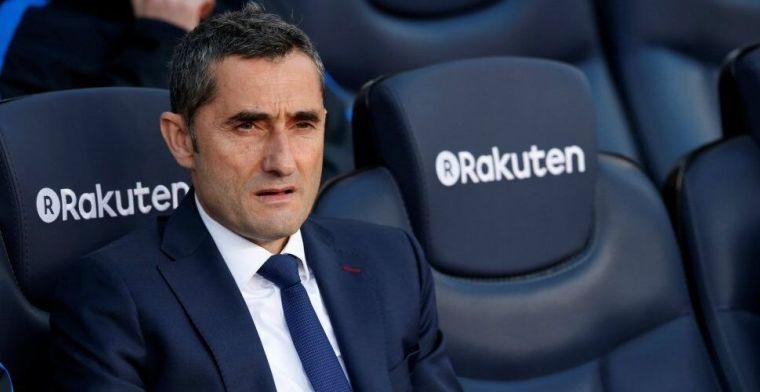 'Barça-trainer Valverde heeft twijfels over toekomst na wisseling van de wacht'