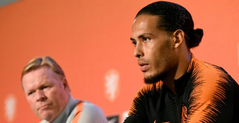 Van Dijk speelt al weken met gebroken ribben: Wilde tegen Duitsland spelen