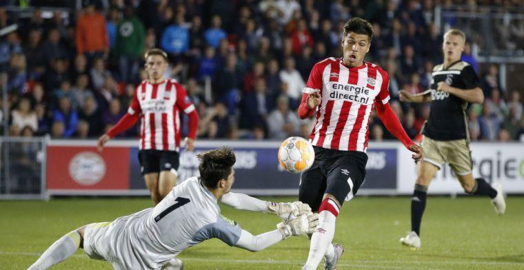 Jong PSV komt terug van achterstand en wint mini-topper tegen Jong Ajax