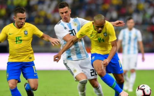 Afbeelding: Argentinië verliest prestigetopper van Brazilië in blessuretijd