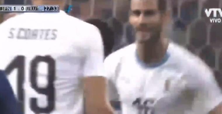 Tweede doelpunt voor Uruguay in vierde interland: Pereiro schiet raak tegen Japan