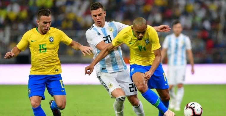 Argentinië verliest prestigetopper van Brazilië in blessuretijd
