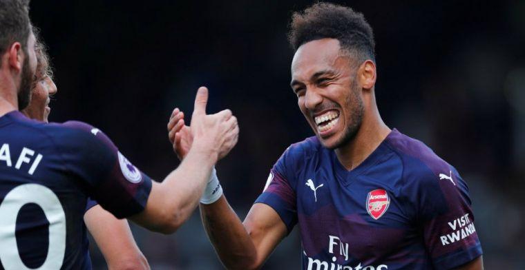 'Aubameyang schrikt van krakkemikkig vliegtuig en keert terug naar Arsenal'