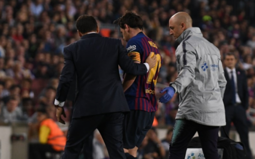 Afbeelding: Blessure Messi grote domper op ruime Barcelona-zege op Sevilla