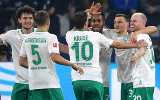 Afbeelding: Werder Bremen verslaat Schalke en staat in de top van de Bundesliga