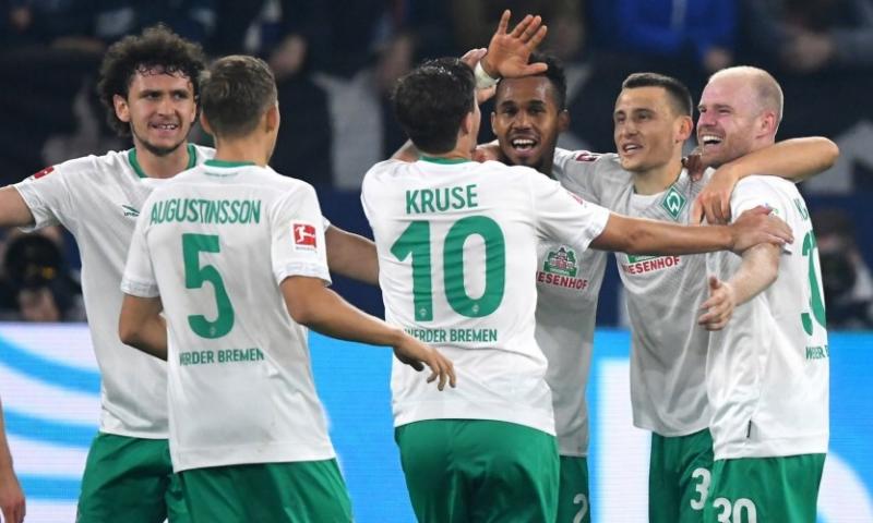 Afbeelding: Klaassen en Werder Bremen winnen opnieuw en staan in de top van de Bundesliga