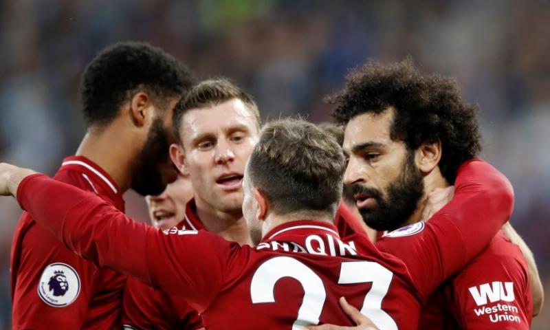 Afbeelding: Wijnaldum en Van Dijk winnen en pakken de tweede plek met Liverpool