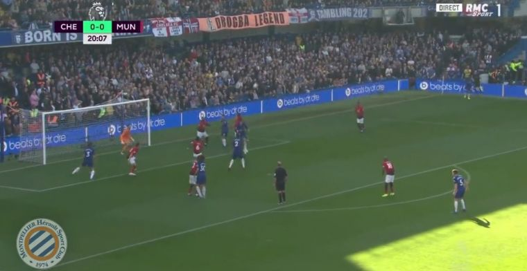 GOAL: Nog meer zorgen voor Mourinho: Pogba laat Rüdiger lopen, Chelsea op 1-0