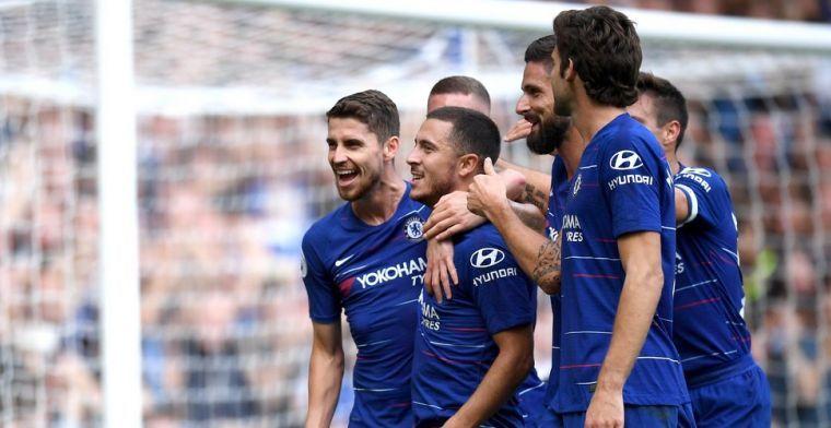 Geweldig: supporters van Chelsea paaien Hazard met prachtig spandoek