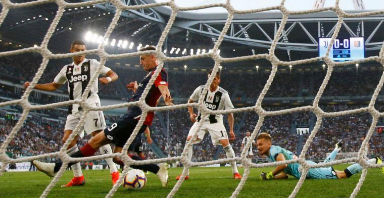 Jubileumtreffer van Ronaldo kan uitglijder van Juventus niet voorkomen