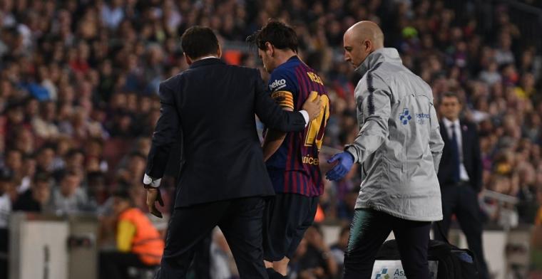 Blessure Messi grote domper op ruime Barcelona-zege op Sevilla