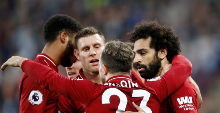Wijnaldum en Van Dijk winnen en pakken de tweede plek met Liverpool