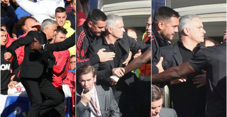 El amago de pelea de Mourinho con un integrante del banquillo del Chelsea